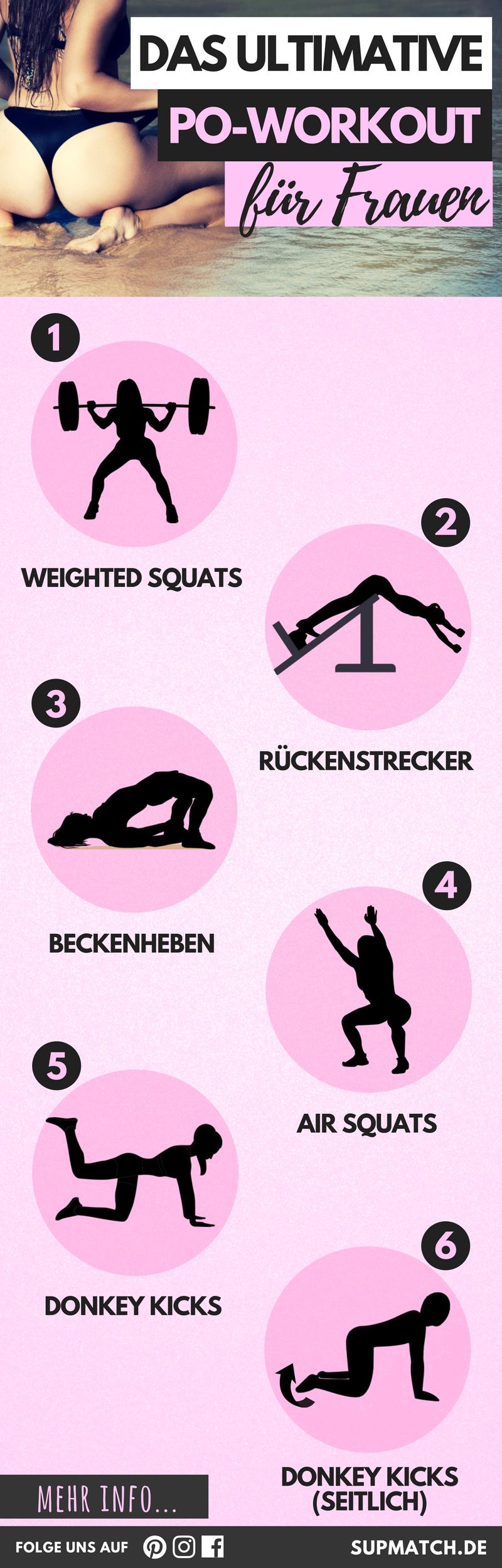 Das ultimative Po Workout für Frauen   Pinterest   Workout für ...