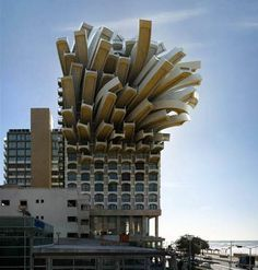 Famous Postmodern Architecture impossible but amazing building - looks like french fries. | urban