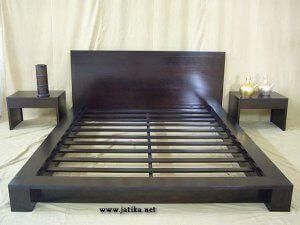 Set Tempat Tidur Minimalis Jati Solid Tempat Tidur Dipan Mebel