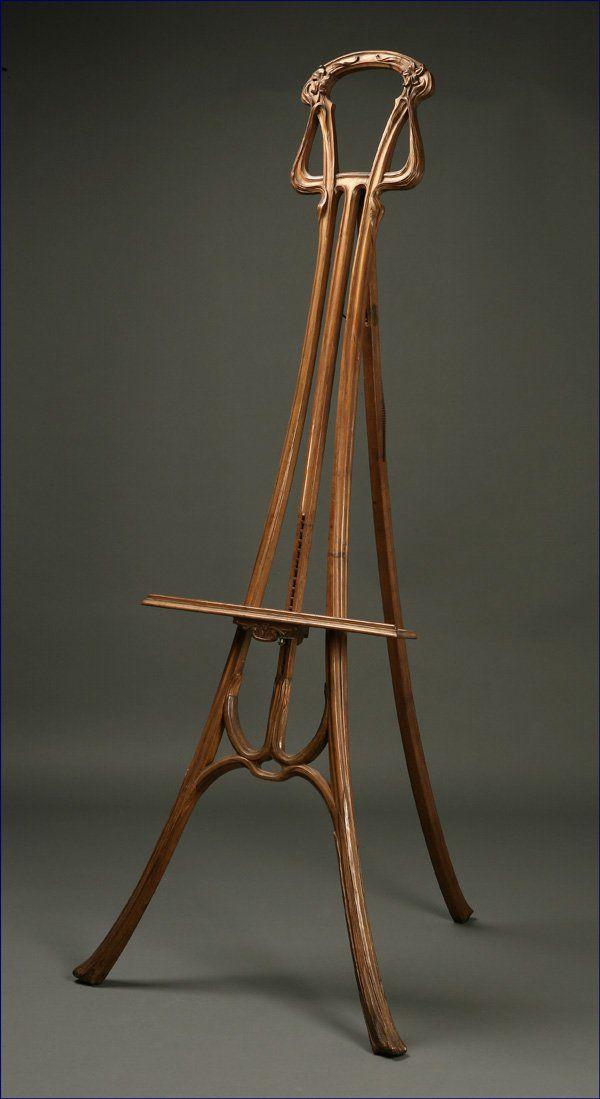 Antique Style: Antique Easels | Art nouveau furniture, Art ... on Easel Decorating Ideas  id=90165