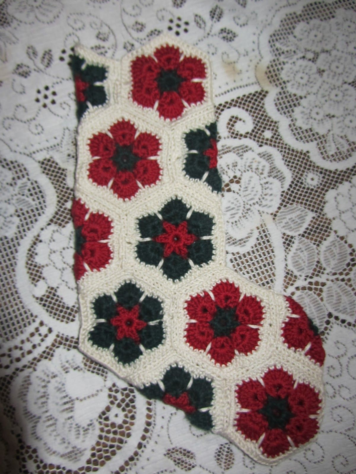 Granny square Christmas Crochet christmas stocking