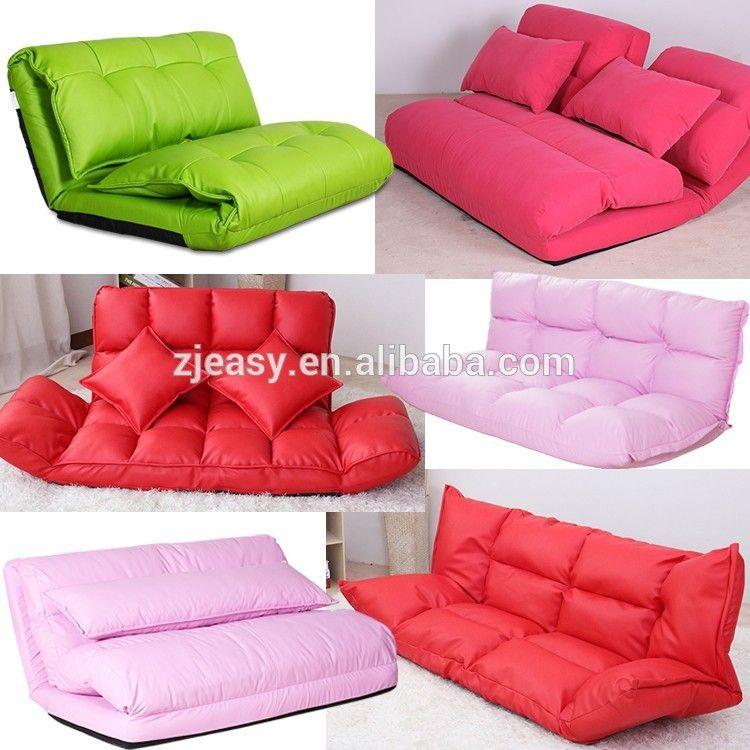 Korean Style Fabric Love Set Sofa Folded Sponge Floor Sofa 5 Gears