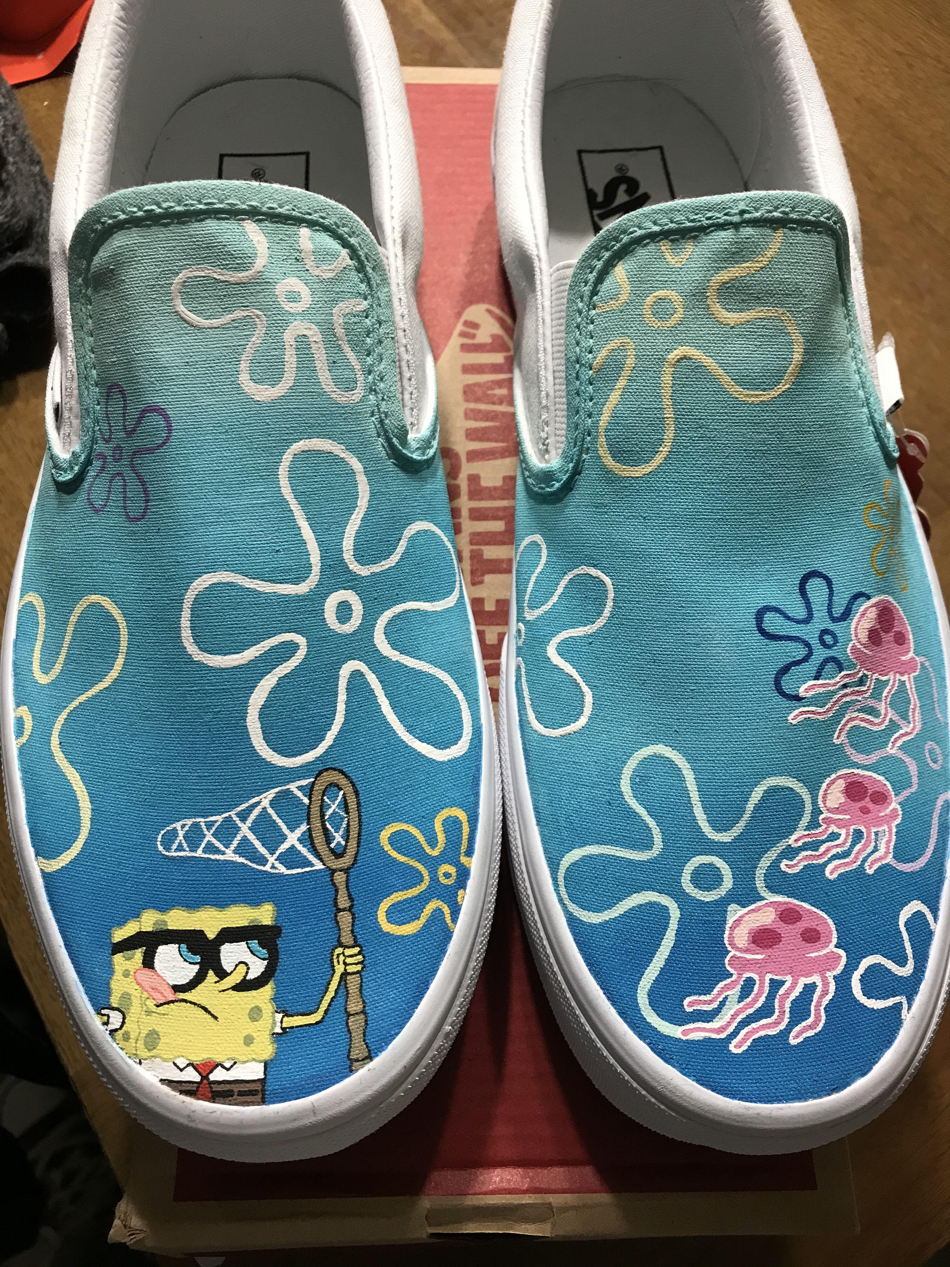 Custom painted sponge bob vans in 2020