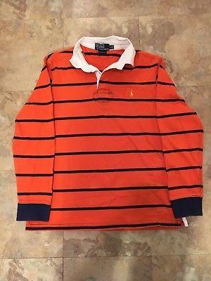 ralph lauren orange polo red striped polo
