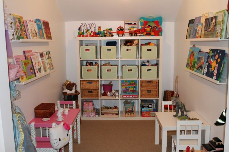 Estanter as para habitaciones infantiles 50 ideas - Estanterias para guardar juguetes ...