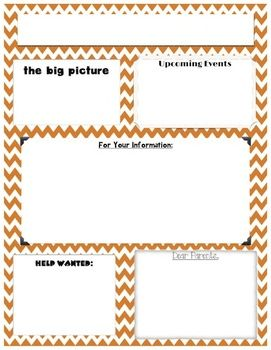 newsletter templates word version kid stuff pinterest
