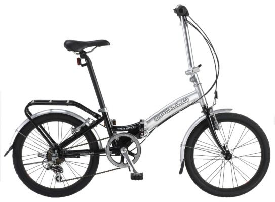 The Apollo Transition Folding Bike Has Advanced Folding Mechanism