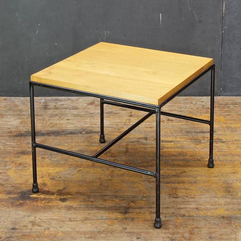 Amazing 1950S Rare Paul Mccobb Iron Rod Planner Group Side Table Pdpeps Interior Chair Design Pdpepsorg
