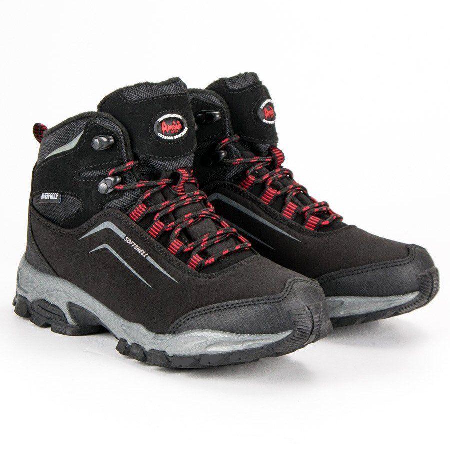 American Club Damskie Zimowe Buty American Czarne Boots Hiking Boots Shoes