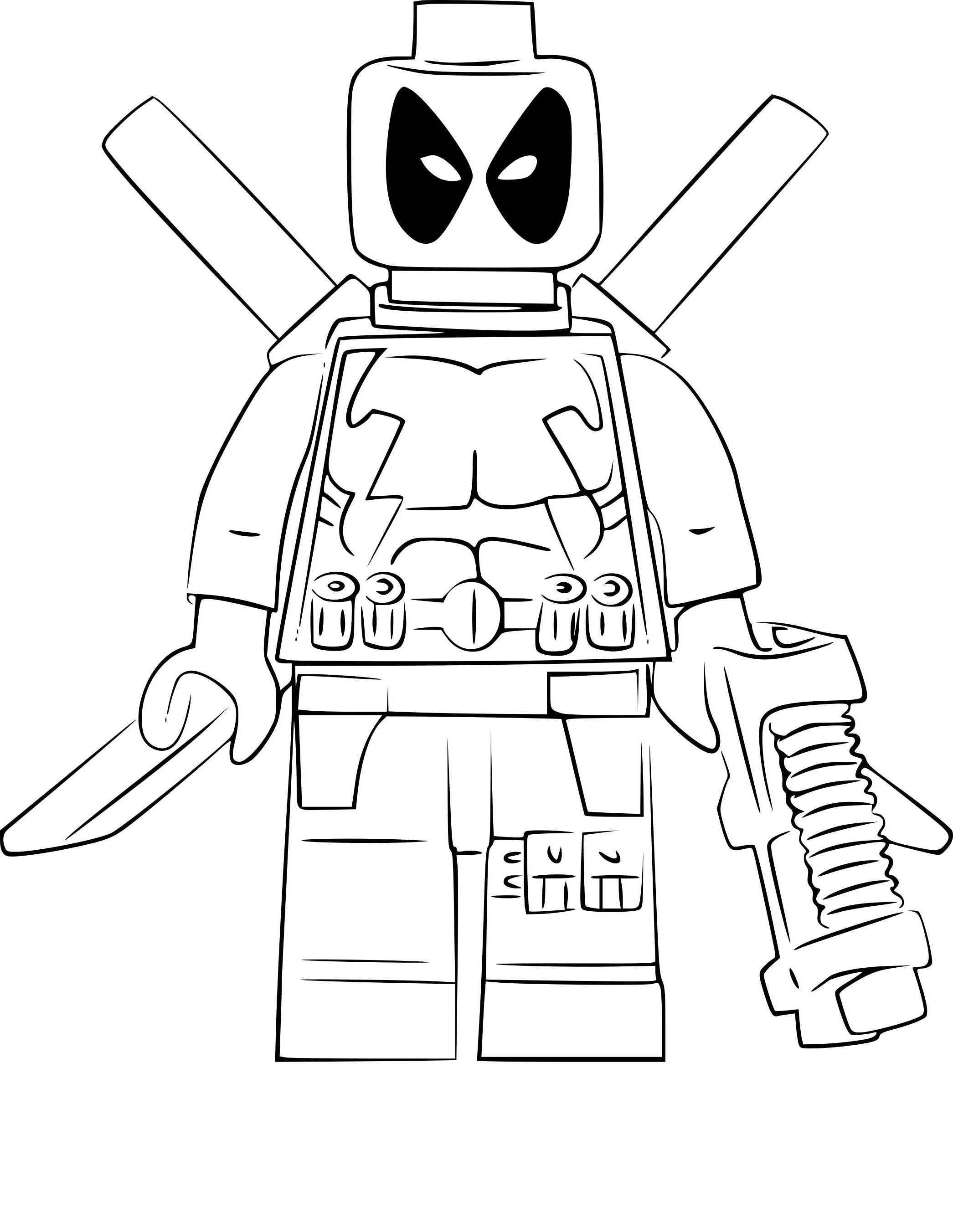 Trouver 21 Coloriage Noel Lego Coloring Pages Lego Deadpool