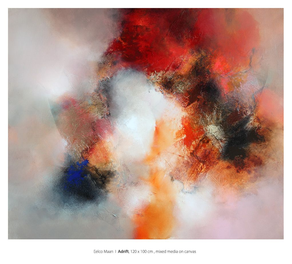 Eelco Maan I Adrift, mixed media on canvas, 120 x 100 cm. Available at Galerie Sous Terre http://sous-terre.nl/