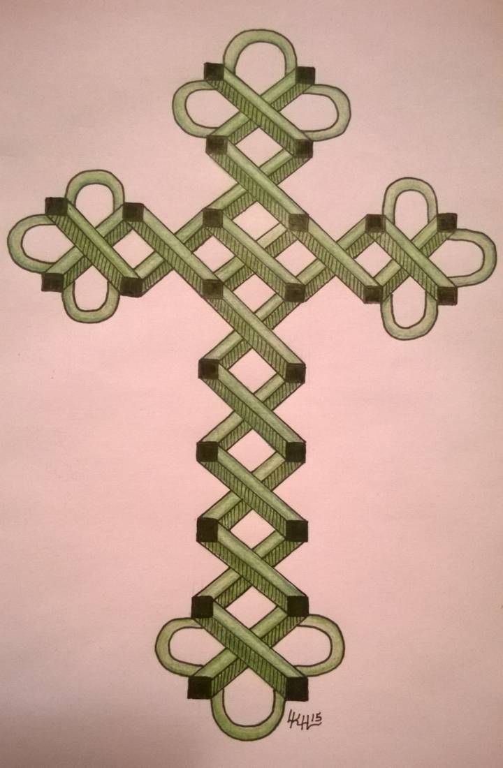 Emerald Cross ...Linda Heuston 5/15. I made this for my friend Lexi, for her new apt.