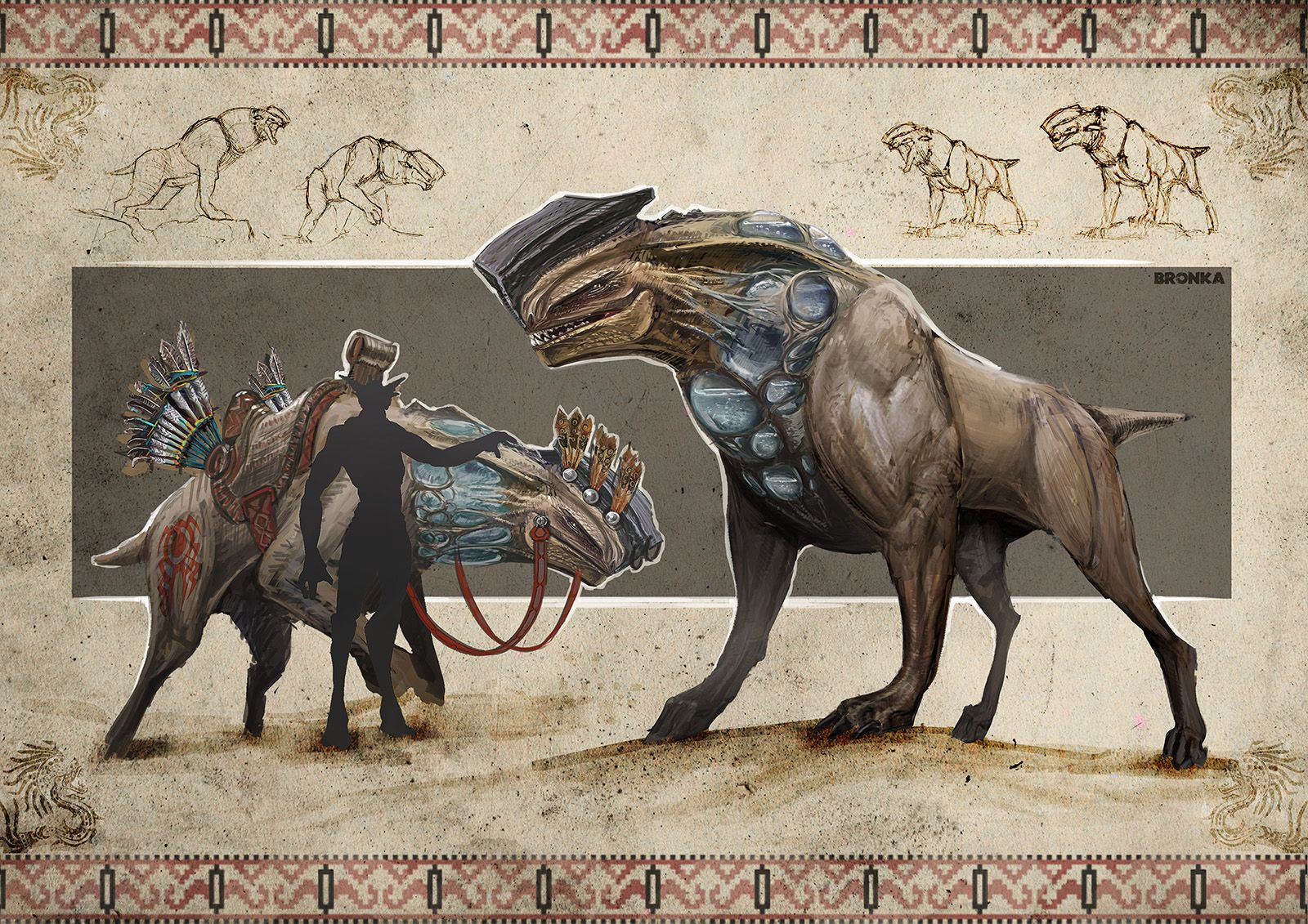 Alien desert planet creatures by Darius Kalinauskas | Sci ...