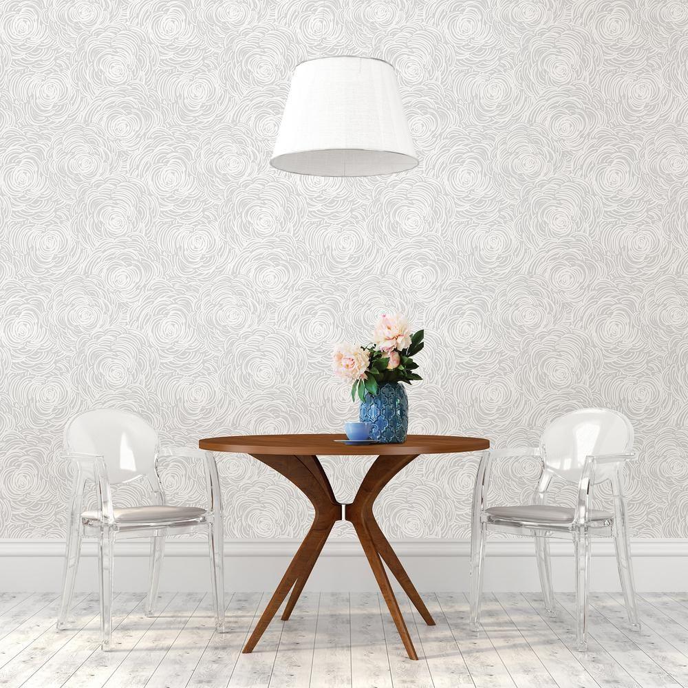 56 4 Sq Ft Celestial Grey Floral Wallpaper Floral Wallpaper Grey Floral Wallpaper Wallpaper Samples