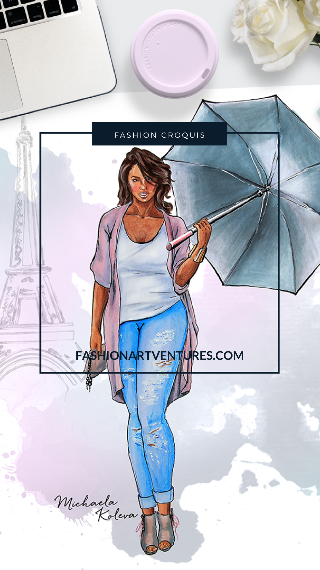 Naturally Curvy Printable Plus Size Fashion Template Ilration Croquis Png 1080x1920
