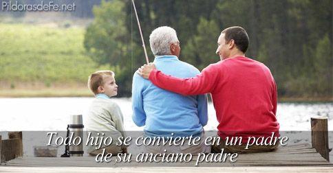 hijo-es-padre-de-su-padre-anciano.jpg (484×252) | Padres envejeciendo, Ser  padre, Hijos