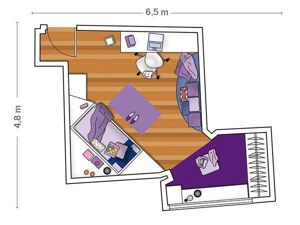 Un dormitorio chic para una niña Dormitorios