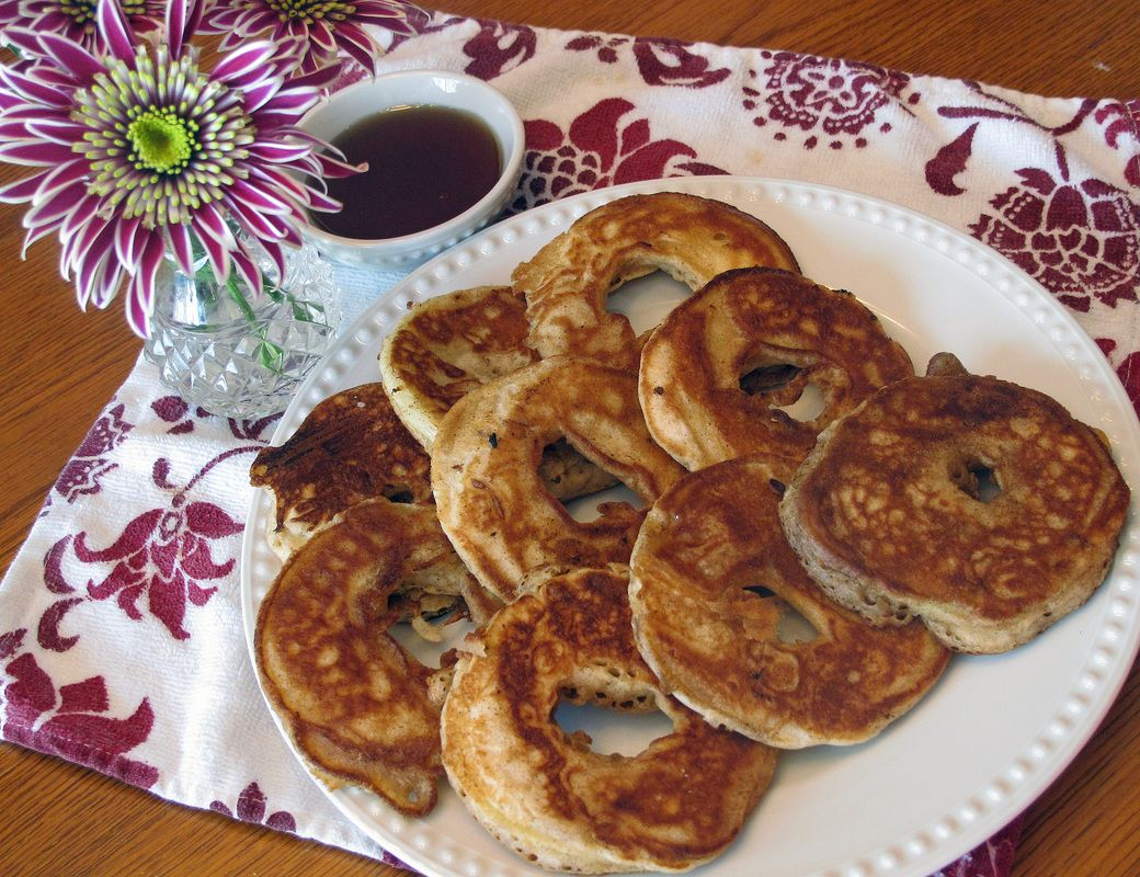 Delicious Apple Ring Pancakes!