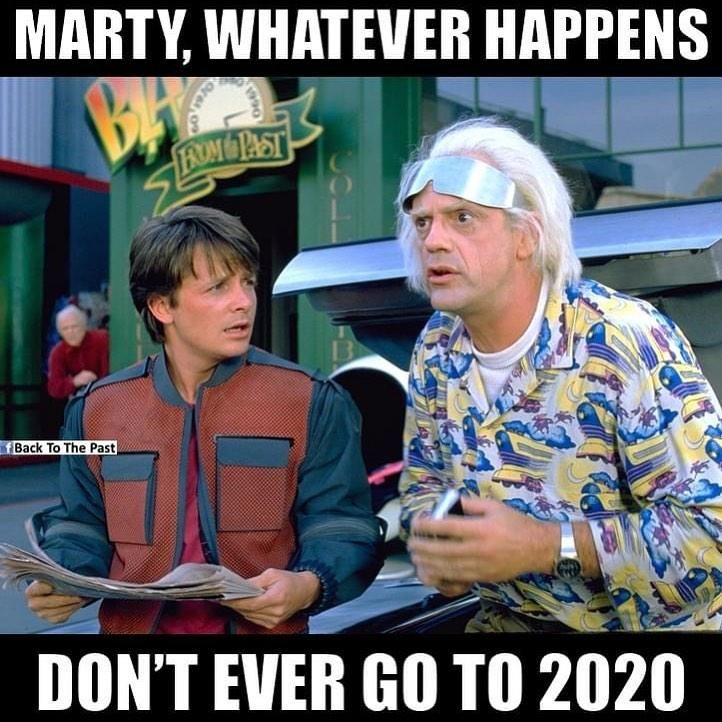 Don T Ever Go To 2020 Back To The Future In 2020 Back To The Future Future Memes Holiday Jokes