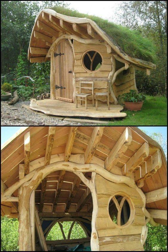 Spielhaus für den Garten selber bauen DIY Anleitung Diy und