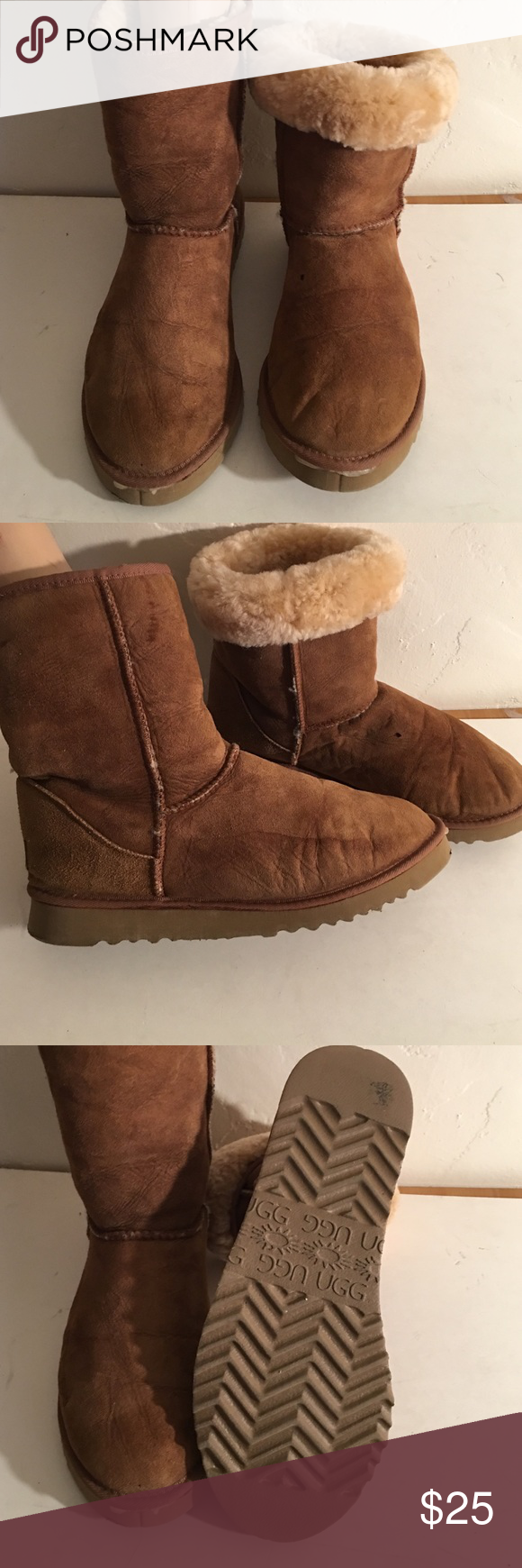 UGG MENS SHORT CLASSIC 5800 FUR LINED BOOTS 11 PREOWNED WORN STILL GOOD CONDITION FUR SOFT AND  FULL SOME COSMETIC WEAR SEE PHOTOS UGG Shoes Winter & Rain Boots