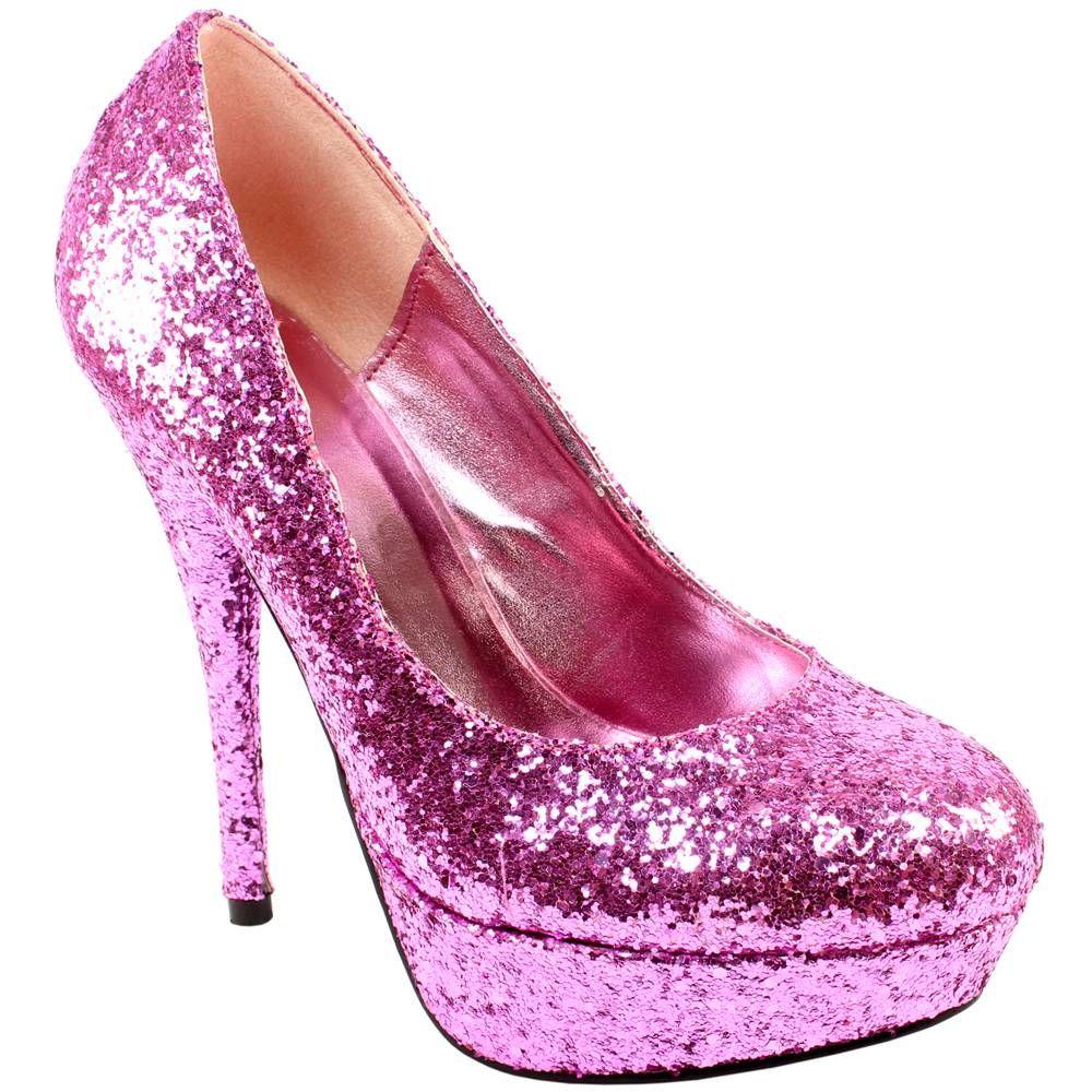Glitter high heels