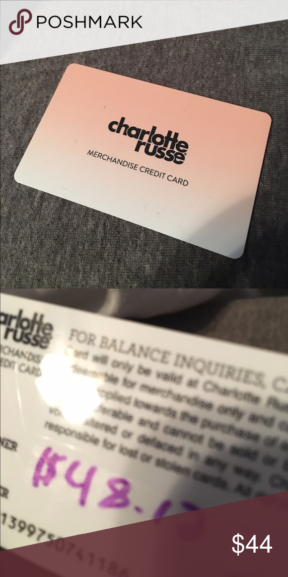 Charlotte Russe merchandise credit card Merchandise credit card for ...