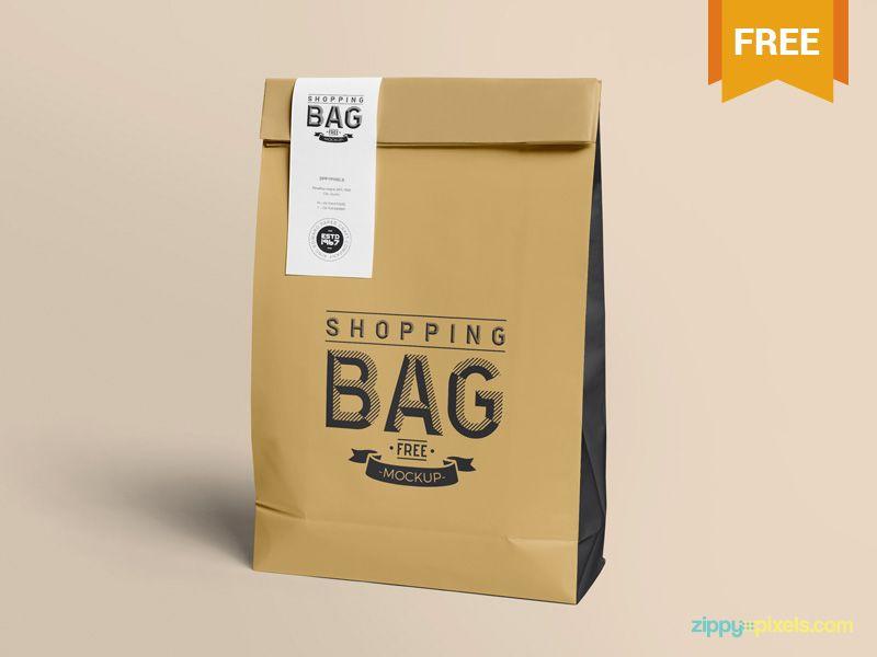 Download Free Awesome Paper Bag Mock Up Mockup Photoshop Mockup Paper