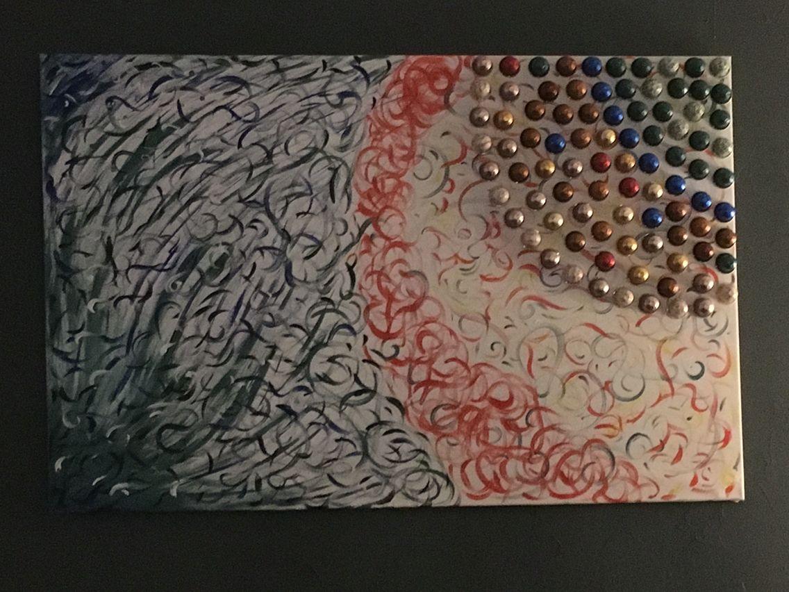 Häufig Tableau fait avec de la peinture et des capsules Nespresso  LT99