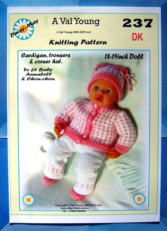 YOU ARE BUYING A KNITTING PATTERN FOR A BABY ANNABELL ...