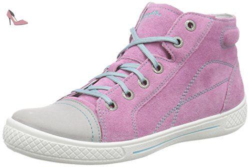 Superfit Tensy, Sneakers Hautes Fille - Rose (Kitty Kombi 67), 33 EU