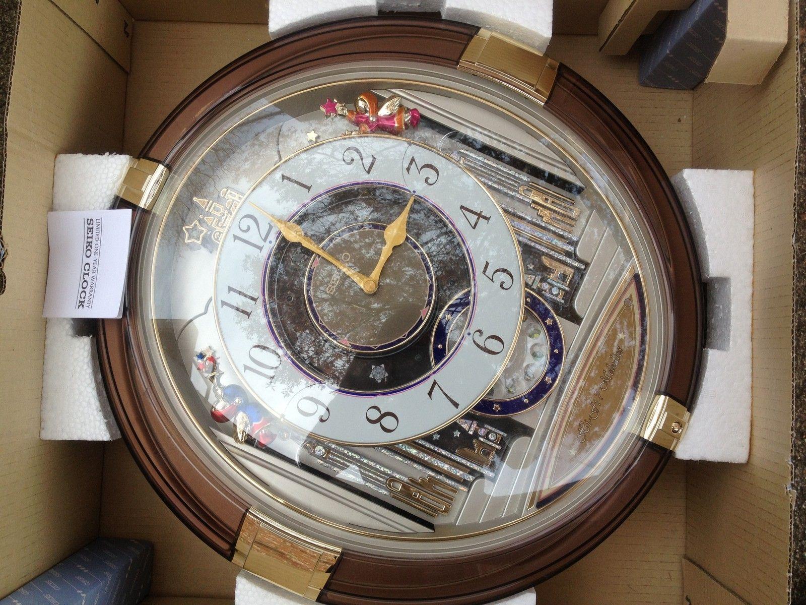 Seiko Melodies In Motion Wall Clock Beatles Rhythm Musical