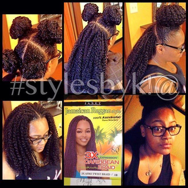 stylesbyk!@ Vixen crochet braids with Expressions Caribbean braid ...