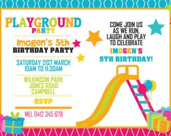 Park playground birthday invitation printable or printed with free park playground birthday invitation printable or by thatpartychick filmwisefo Gallery