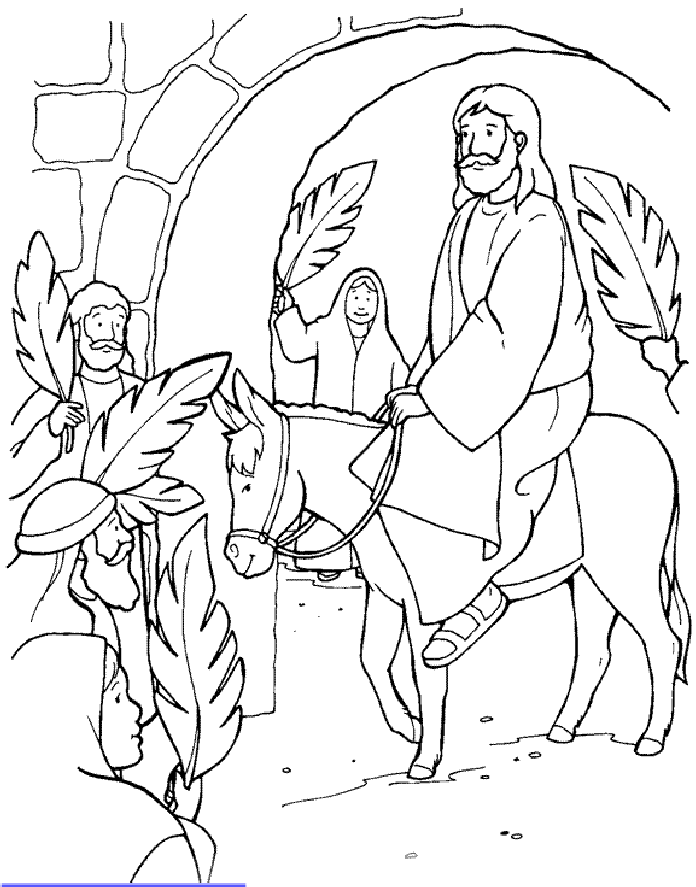 Jesus On Palm Sunday Sunday School Coloring Pages Palm Sunday Crafts Easter Sunday School