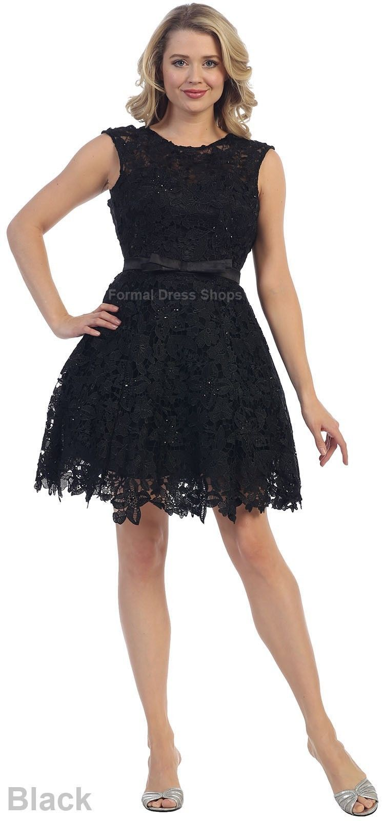 Awesome amazing short cap sleeve cute prom cocktail lace demure
