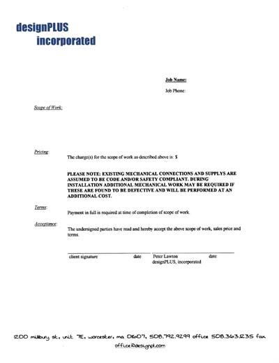 Printable Sample It Services Contract Form  Laywers Template Forms