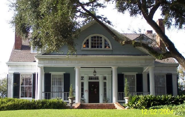 Blue Gray Exterior Paint Colors love the colors! lighter blue exterior with dark navy shutters