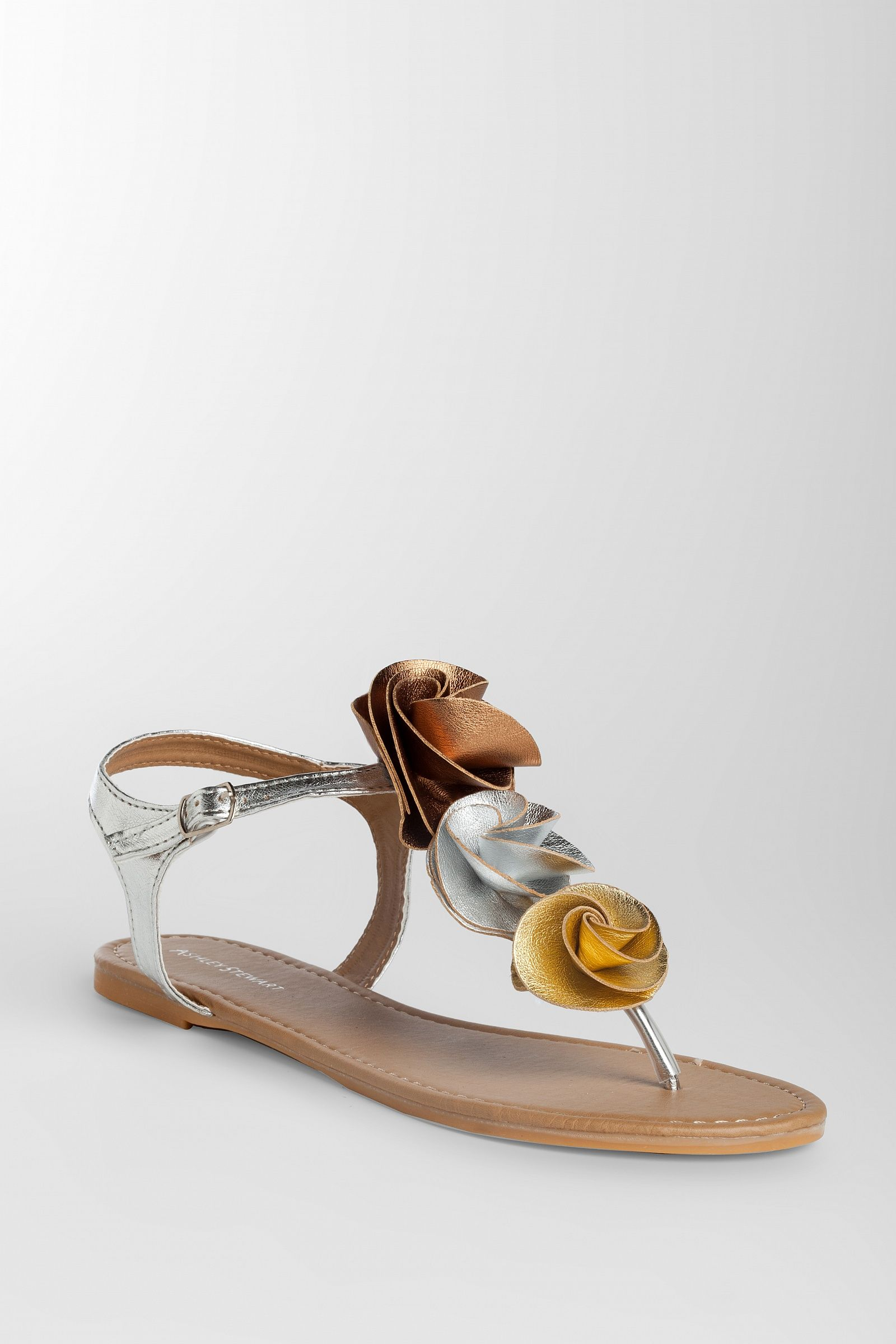 a7596faf5b6 Ashley Stewart  Wide Width Flower Thong Sandal
