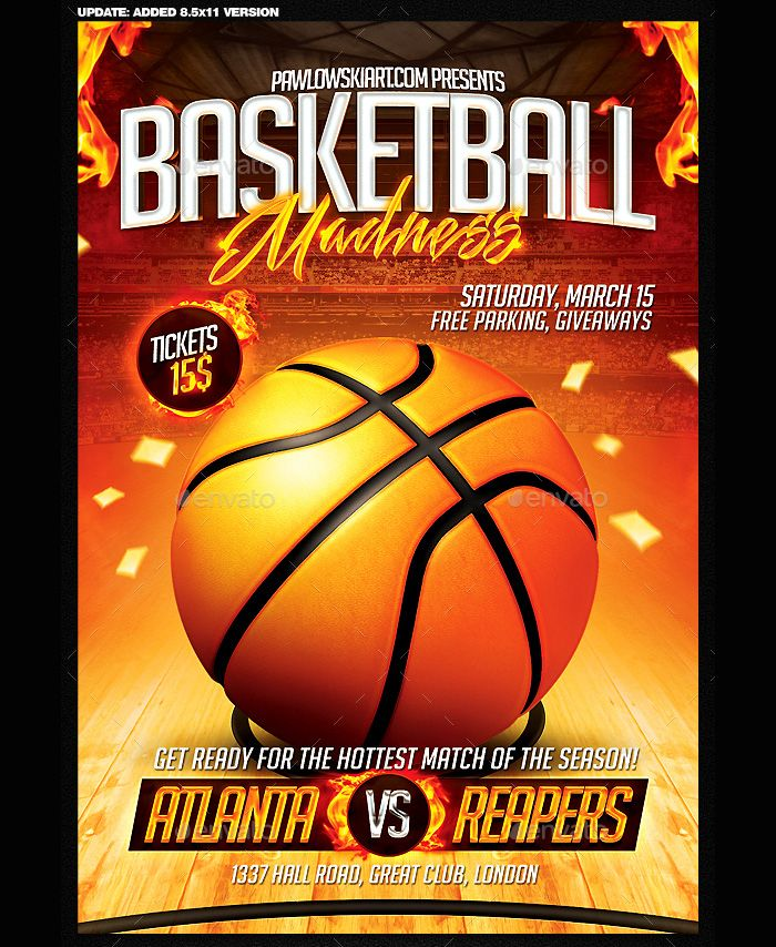 bright-and-shiny-flyer-for-basketball-game Flyer Templates - basketball flyer example