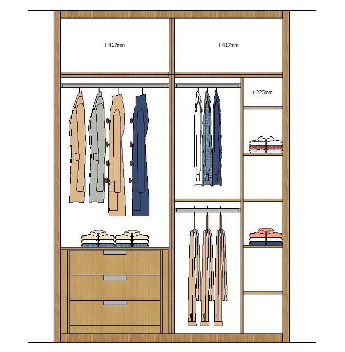 Alzado armario 5  Closets en 2019  Diseo de armario