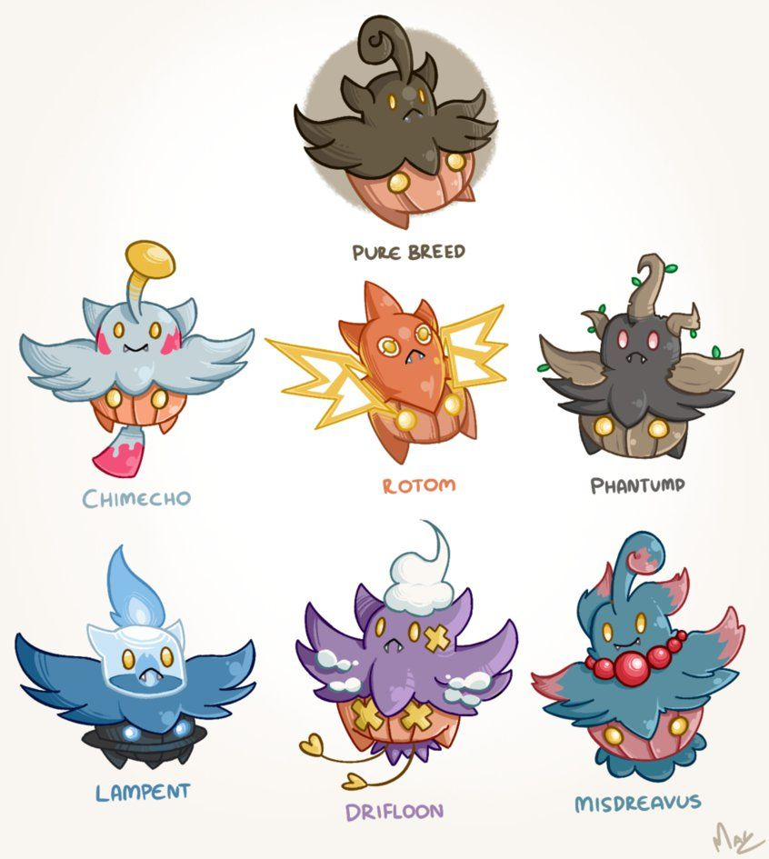 34a75adb1 Pumpkaboo Variations by Magnum-Redstar on DeviantArt | Pokemon ...