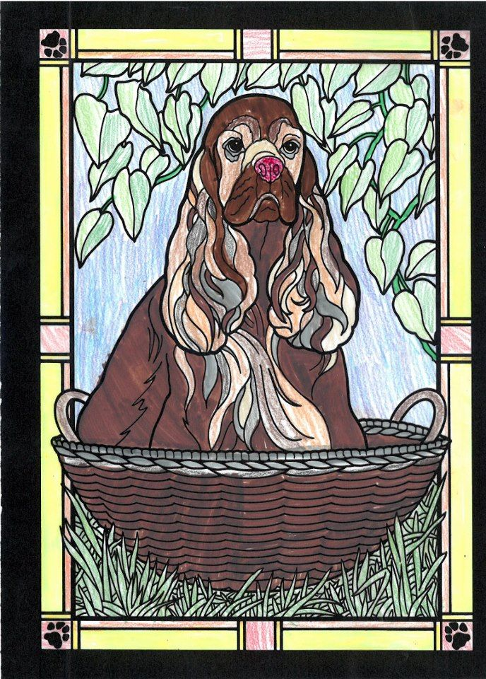 Michaela S Age 9 Under 12 Division From Dogs Stained Glass Coloring Book