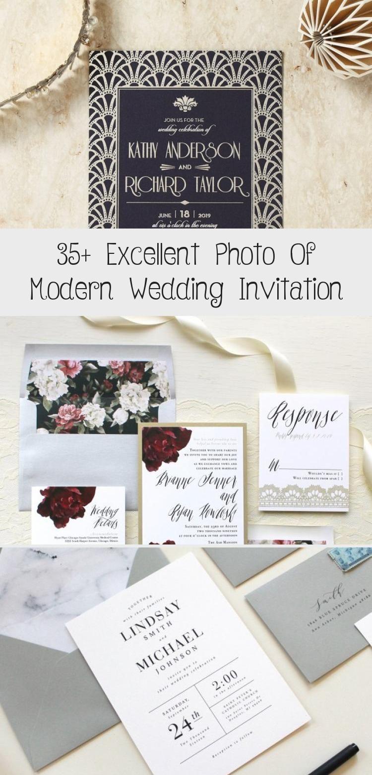 35 Excellent Photo Of Modern Wedding Invitation Monogram Wedding Invitations Modern Wedding Invitation Sets Contemporary Wedding Invitations