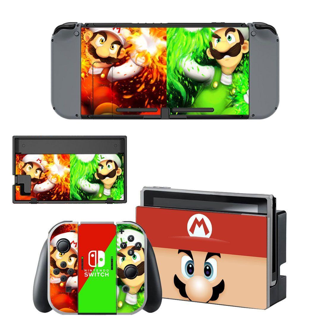 Super Mario Bros design vinyl decal for Nintendo switch console sticker skin