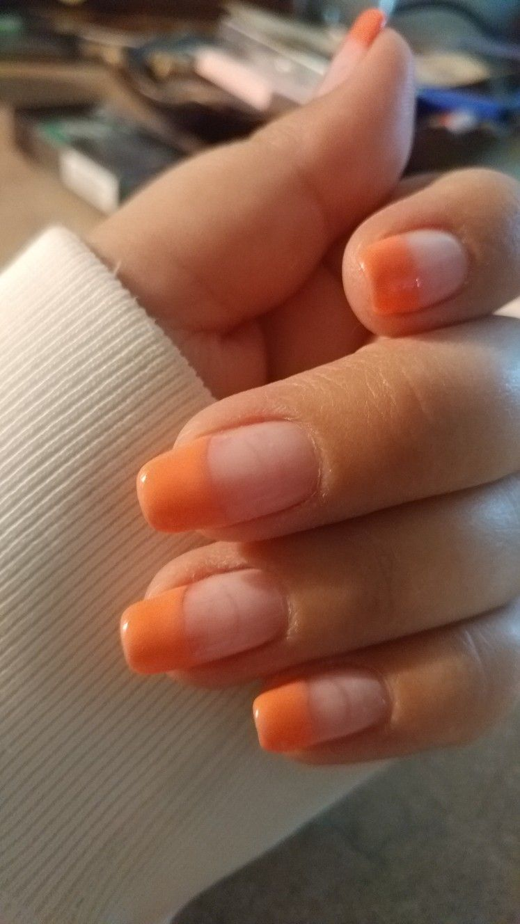 61 Natural French Tip Nails Colored With Designs For Summer And ...