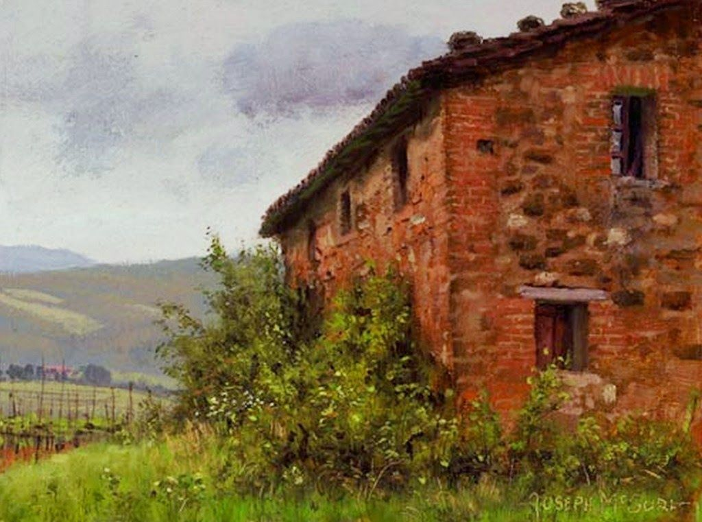 Cuadros de paisajes con casas antiguas pintados oleo - Paisajes de casas ...