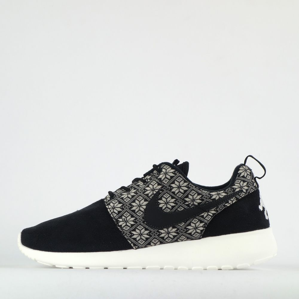 Nike Roshe Run One Winter Mens Casual Trainers Shoes Sneakers Black/Sail #Nike #CasualTrainersShoes
