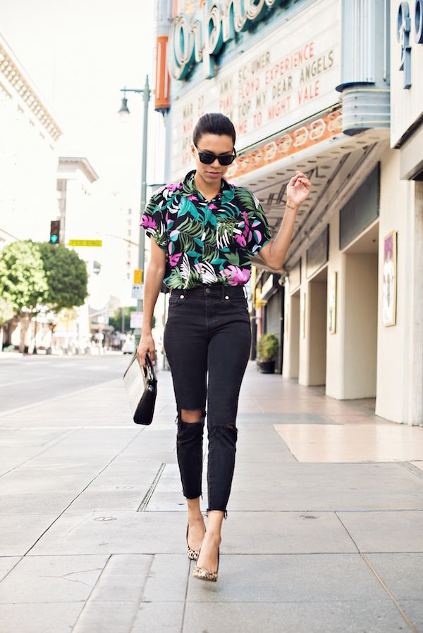 61bcdf01 take risks, have fun #stylemegrasie #ootd // hawaiian shirt // leopard heels