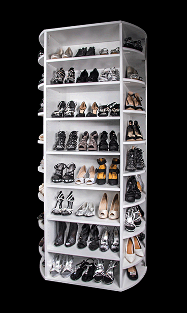 360 Organizer Sup Sup Fs The Shoe Spinner By Lazy Lee Sup Sup Closet Shoe Storage Shoe Rack Closet Rotating Shoe Rack